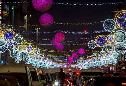 Iluminatul festiv de Craciun: Primaria Municipiului Bucuresti, fruntasa la cheltuielile pentru luminite