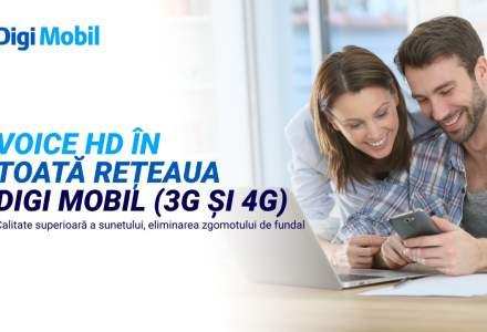 "(P) Dupa Voice LTE (4G) si Vo WiFi, calitatea vocala ,,Voice HD"" devine disponibila si pentru reteaua 3G"