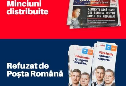 Posta Romana explica de ce nu a distribuit pliantele USR/PLUS, desi le-a trimis pe cele ale PSD