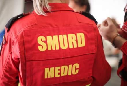 Accident soldat cu 11 raniti in Capusu, Cluj. Un elicopter al SMURD a intervenit