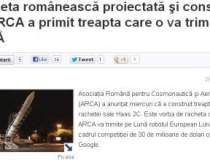 Racheta romaneasca proiectata...