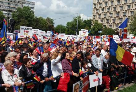 VIDEO Incidente la mitingul PSD de la Galati: manifestantii anti-PSD au protestat