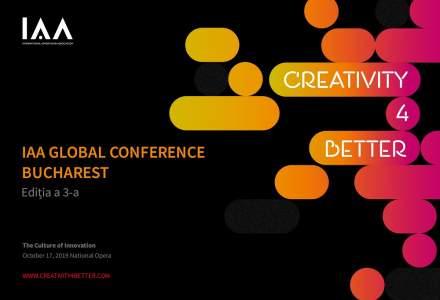 """Conferinta Globala IAA ,,Creativity4Better"""" revine la Bucuresti cu o a treia editie si anunta primii speakeri"""