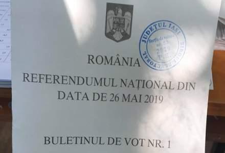 Referendum 2019: Stampila de control a unei sectii de votare din Iasi - pusa pe prima pagina a mai multor buletine pentru referendum
