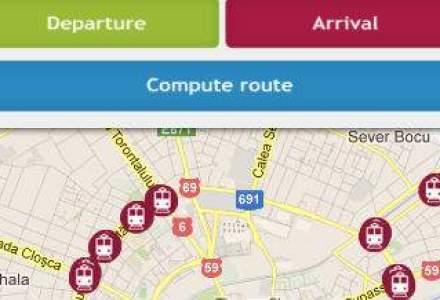 Aplicatia Transport Urban include si traseele transportului public din Cluj-Napoca si Timisoara