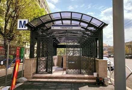Metrorex a inaugurat doua noi cai de acces la statia de metrou Tineretului dupa mai bine de doi ani de la inceperea lucrarilor