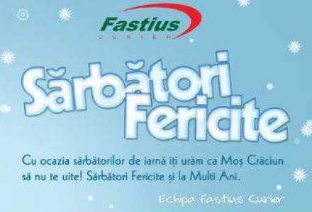 (P) Sarbatori fericite, livrate prin Fastius Curier - rapid si sigur