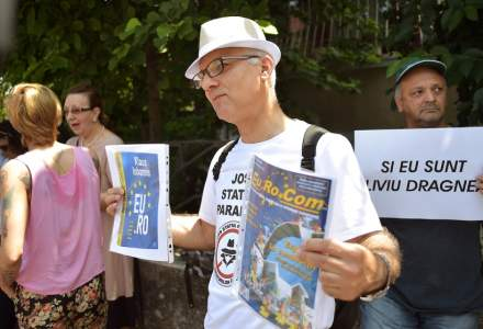 Protest la Palatul Cotroceni: circa 50 de persoane cer eliberarea lui Liviu Dragnea din inchisoare