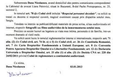 Sotia lui Sergiu Nicolaescu interzice presei sa realizeze materiale la inmormantarea acestuia