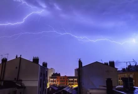 Cod portocaliu de furtuni in cinci judete pana la ora 23:00. Cod galben de vreme instabila in 18 judete si in Bucuresti