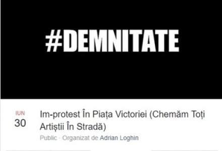Un protest al actorilor este anuntat duminica, de la ora 18.00, in Piata Victoriei