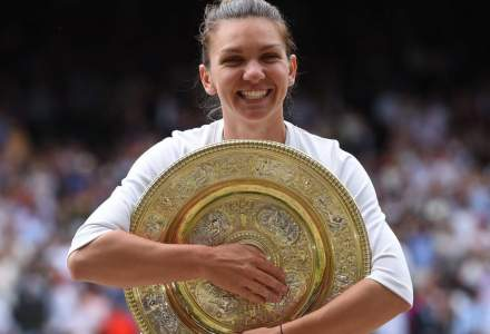 Simona Halep isi prezinta astazi trofeul de la Wimbledon, pe Arena Nationala