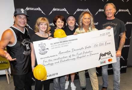 Metallica doneaza 250.000 de euro pentru spitalul oncologic de copii construit de Daruieste Viata