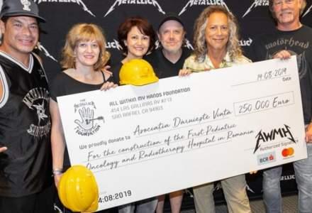 """Povestea donatiei de 250.000 de euro a trupei Metallica pentru primul spital pediatric de oncologie, construit de ONG-ul """"Daruieste viata"""""""