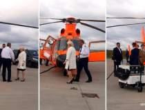 Dancila a mers cu elicopterul...