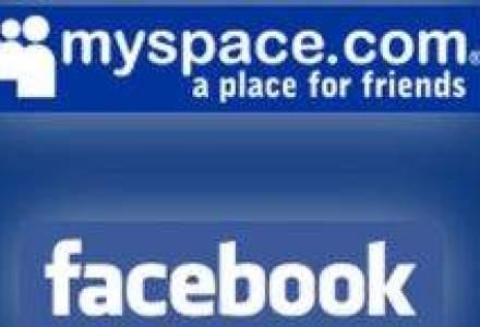 Facebook castiga teren in fata MySpace la numarul de utilizatori