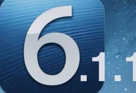 Apple a lansat update-ul la iOS 6.1.1 pentru iPhone 4S, dupa probleme aparute la versiunea precedenta
