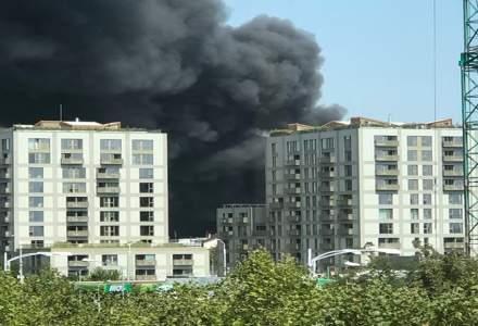 Incendiu mare in zona de nord a Bucurestiului
