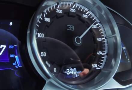 Un Bugatti Chiron Sport atinge viteza maxima de 420 km/h