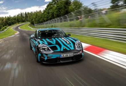 Asul din maneca: recordul stabilit de Porsche Taycan la Nurburgring a fost realizat cu versiunea medie Turbo