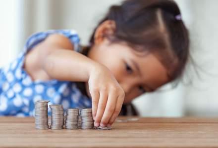Economisirea alocatiei pe care o primeste copilul tau. Aegon: un parinte poate acumula peste 52.000 de lei