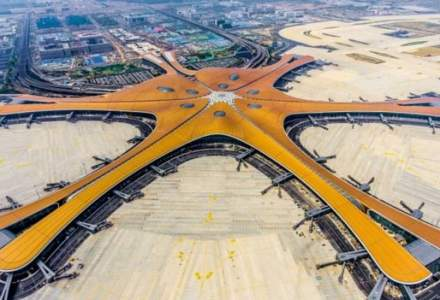 China a inaugurat un mega-aeroport sub forma de stea de mare