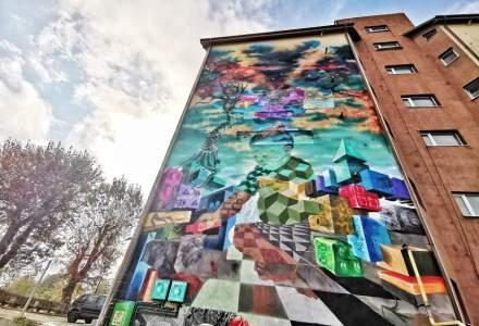 Cum arata prima pictura murala din Romania care purifica aerul, realizata in Bacau