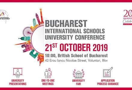 "(P)""Bucharest International Schools University Conference"", locul unde elevii au intalniri One-To-One cu universitati de top din intreaga lume!"