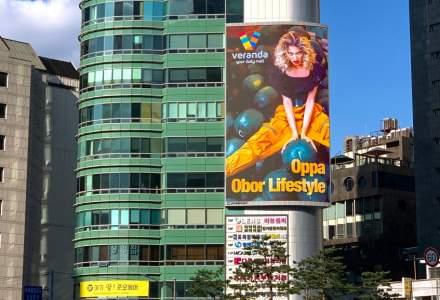 INEDIT: Cartierul Obor este promovat pe un ecran urias din Gangnam, Coreea de Sud