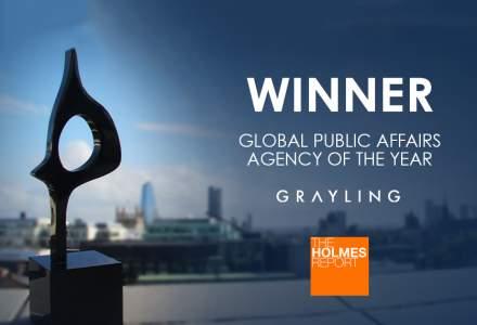 """(P) Grayling desemnata """"Cea mai buna agentie de Public Affairs a anului"""" la Global SABRE Awards 2019"""