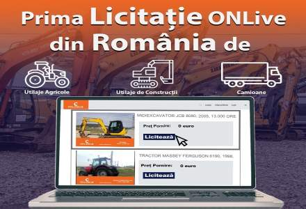 (P) Cum puteti alege pretul pe care sunteti dispus sa il platiti pentru un utilaj? Cum puteti achizitiona cu ajutorul primei Licitatii de Utilaje OnLive din Romania?