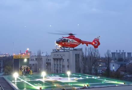 Spitalul Universitar de Urgenta Bucuresti anunta efectuarea primului zbor pe noul heliport de 1 milion de euro