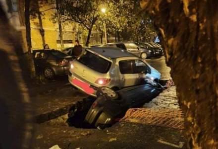 Brigada Rutiera, despre cazul masinilor cazute in sant: Valabilitatea acordului lucrarilor RADET era depasita