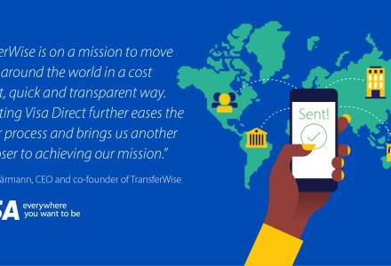 TransferWise va implementa si in Romania transferul de bani in timp real pe cardurile de debit, atat pe retail cat si pentru IMM-uri, prin intermediul sistemului Visa Direct