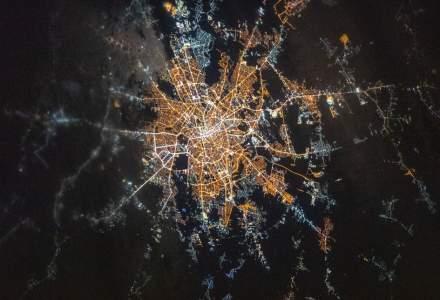 FOTO Cum arata Bucurestiul, vazut de pe Statia Spatiala Internationala