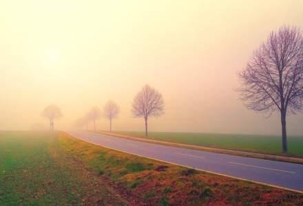 Cod galben de ceata densa in 18 judete si avertizari de polei si burnita in altele 4