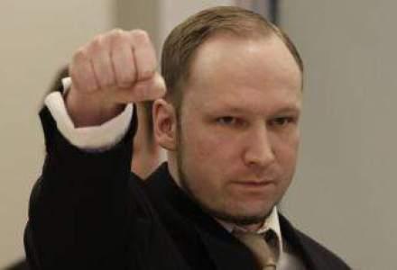 Norvegia a refuzat cererea lui Anders Behring Breivik de a forma un partid fascist