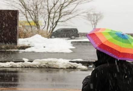 ANM: Vremea se raceste in Bucuresti; se vor semnala ninsori slabe si lapovita, incepand de duminica dimineata
