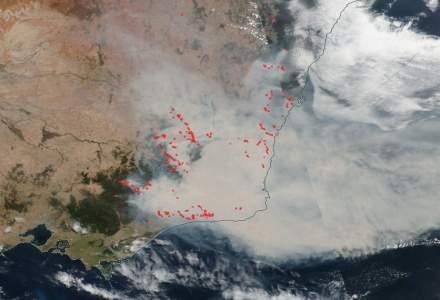Imaginea saptamanii: Incendiile din Australia, vazute din spatiu