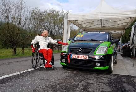 Ciprian Lupu, primul pilot de raliu in scaun rulant din Europa de Est: In masina nu ma simt diferit fata de ceilalti