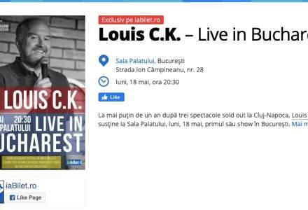Comediantul Louis C.K. vine la Bucuresti in luna mai