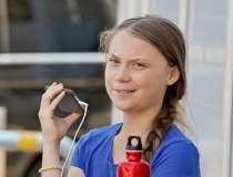 Greta Thunberg protesteaza...