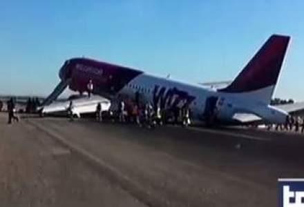 VIDEO: Un italian a filmat aterizarea fortata a avionului Wizz Air la Roma