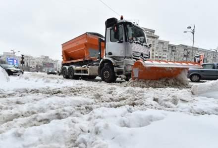 Primaria Bucuresti anunta ca este pregatita cu utilaje si material antiderapantpentru ninsori