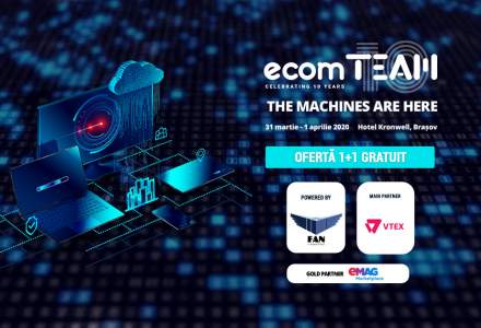 ecomTEAM 2020: Noi speakeri de top si oferta 1+1 gratuit