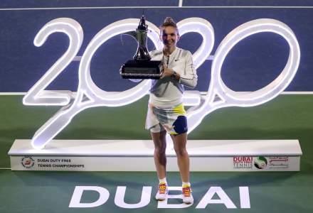 Simona Halep, după victoria de la Dubai: E special să fii în 2020, la a 20-a aniversare a turneului de la Dubai și al 20-lea titlu al meu