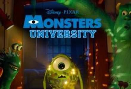 """Animatia """"Universitatea monstrilor"""" a debutat pe primul loc in box office-ul din SUA"""