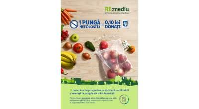 Lidl introduce în toate magazinele din țară săculeții reutilizabili pentru cântărirea și transportul fructelor și legumelor