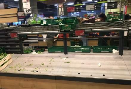 Coronavirusul golește rafturile magazinelor Carrefour, Lidl, Mega Image și Kaufland din Capitală