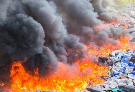 Garda de Mediu a identificat arderi ilegale de deșeuri în județul Ilfov